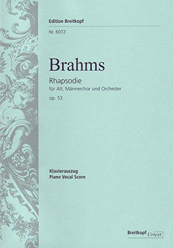 Rhapsodie op. 53 - Fragment aus Goethes 'Harzreise im Winter' - Breitkopf Urtext - Klavierauszug (EB 6072)