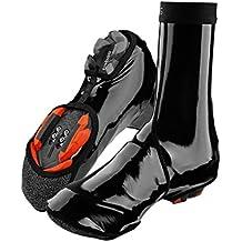RockBros Ciclismo zapatos cubierta impermeable resistente al viento polar caliente zapatos cubierta pantalla, negro