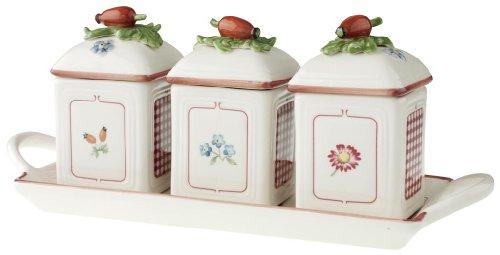 Villeroy & Boch 14-5473-8355 Petite Fleur Charm Marmeladendosen-Set 3tlg. -