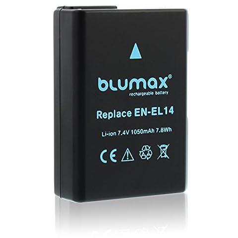 Blumax Kamera Akku für Nikon EN-El14 passend zu Nikon D3100 D3200 D3300 D5100 D5200 D5300 D5500 / Coolpix P7100 P7700 P7800