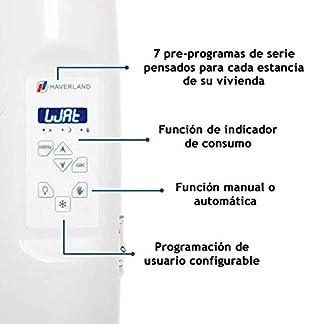 Haverland RC8M – Radiador Digital Fluido Bajo Consumo, 1000 de Potencia, 8 Elementos, Programable, Exclusivo Indicador De Consumo, Pantalla Temperatura Ambiente