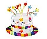 Boland 00932 Hut Regenbogen Kuchen Happy Birthday, unisex-adult, One Size
