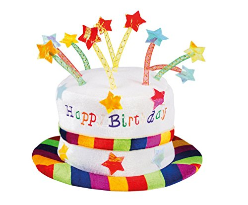 Boland 00932 Hut Regenbogen Kuchen Happy Birthday unisex-adult One ()