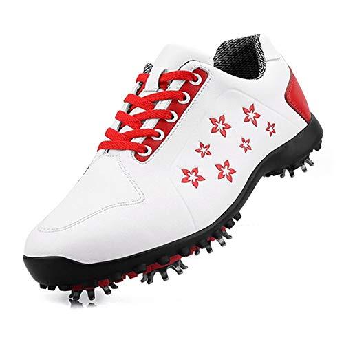 Scarpe da Golf Impermeabili da Donna, Sneakers da Golf Leggere e Traspiranti, Scarpe da Allenamento da Golf Comode e Antiscivolo