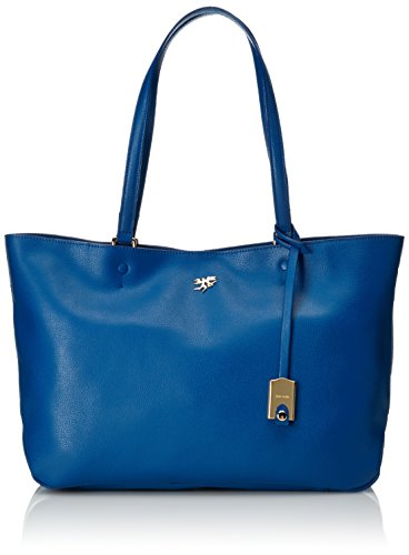 Piero Guidi Magic Circus Classic Leather Borsa Tote, 35 cm, Blu Cobalto