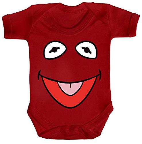 ShirtStreet Fasching Karneval Verkleidung Strampler Bio Baumwoll Baby Body kurzarm Frosch Kostüm, Größe: 12-18 (Kermit Der Frosch Kostüm Baby)