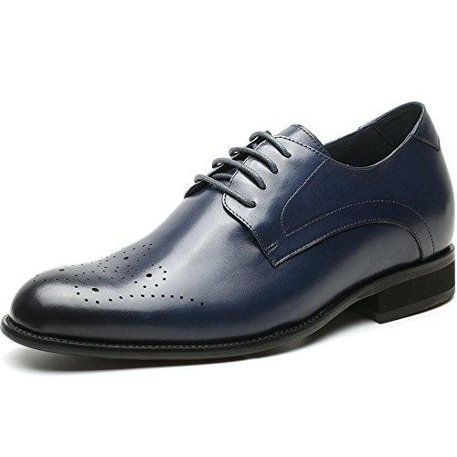 Chamaripa eleganti scarpe con rialzo stringate derby uomo affari commerciali fino a 7 cm-h81d37k021d