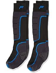 F Lite Niños Calcetines de esquí Esquí SA 100Double Calcetines, otoño/invierno, infantil, color negro y azul, tamaño 27-30