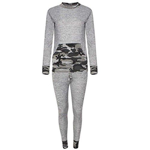 Fashion -  Tuta da ginnastica  - Donna Grigio