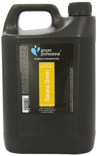 Groom Professional Banana Sheen Shampoo für Haustiere Bananenduft 4 Liter