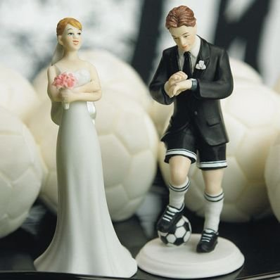 Cake Topper Calciatore Calcio Sposa in Resina Matrimonio Wedding cake Nozze 13,5 cm EmozionarSi - Sposo In Porcellana Wedding Cake Topper