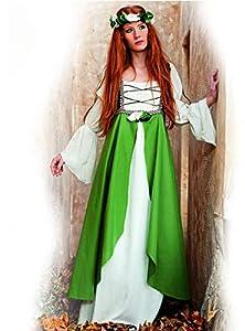 Limit Sport - Disfraz adulto Clarisa medieval, talla 42-44, color verde (MA580 TL)