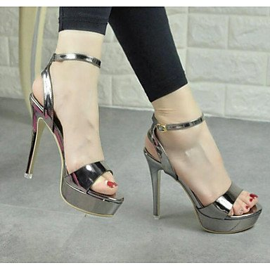 3 Oro Sandali Argento 2 RTRY 4A Casual 4In 4 EU34 4 US4 5 5 Grigio UK2 Estate CN33 Pu Comfort Donna 8n4AP