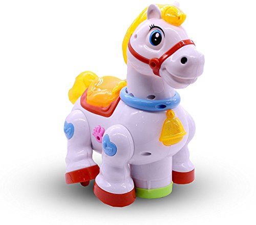 Fantasy India Musical Horse Joy With 4D Lights and Bump & Go Function Musical Toy For Kids for Baby & Kids Happy Music And Light (Multicolor)