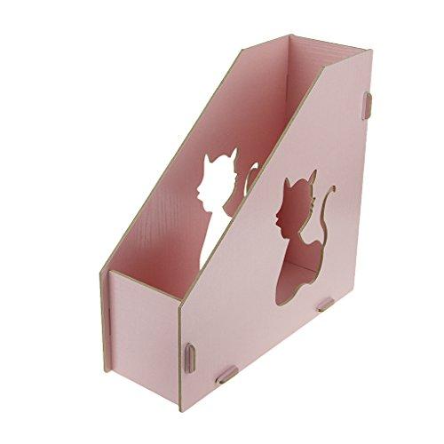 Georgie portariviste portariviste a stelo raccoglitore Archivio portariviste in legno rosa blu marrone rosa