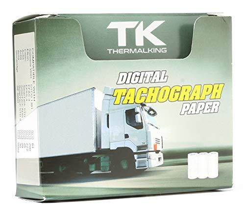12 Stk. zertifizierte Tachorollen - Tachographenpapier - Thermorollen/Thermopapier für sämtliche digitalen LKW-Tachographen/Fahrtenschreiber - 57/8mm - Thermal King
