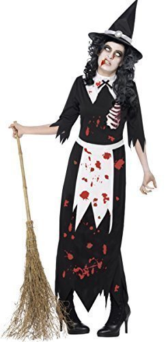 Damen-zombie Salem Hexe Studien Authentic Halloween Kostüm Kleid Outfit 8-18 - 40-42