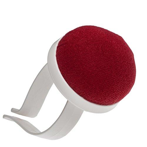 Armnadelkissen: Nadelkissen für Das Handgelenk in rot mit Armspange aus Kunststoff