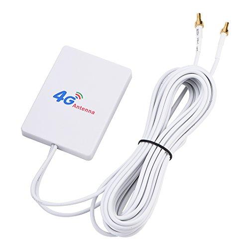 Zerone 28dbi High Gain 4G 3G LTE Antenne Signalverstärker Booster Empfänger für Mobile Router Breitband Hotspot Outdoor Signal Extender(CRC9 Male)