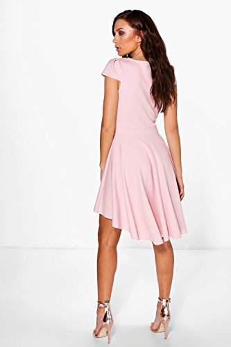 Lotus Damen Maisie Cap Sleeve Dip Hem Skater Dress Lotus