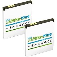 2x Akku-King Akku ersetzt BD50, SNN5796A, 312BAT006 - Li-Ion 750mAh - für AVM Fritz!Fon MTF, M2, C4, C5