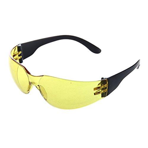 SODIAL(R) Giallo obiettivo chiaro Indoor Outdoor Sports Occhiali Occhiali protettivi