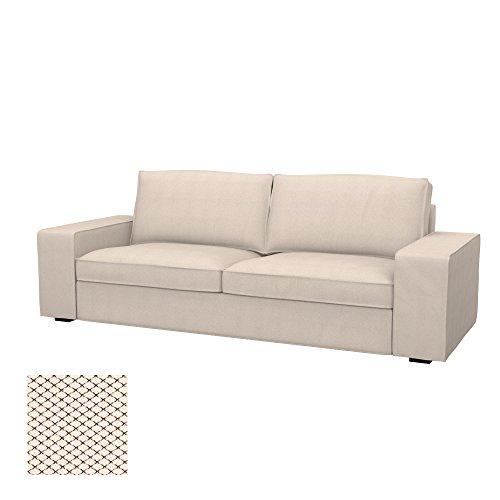 Soferia - IKEA KIVIK Funda para sofá Cama de 3 plazas, Nordic Creme