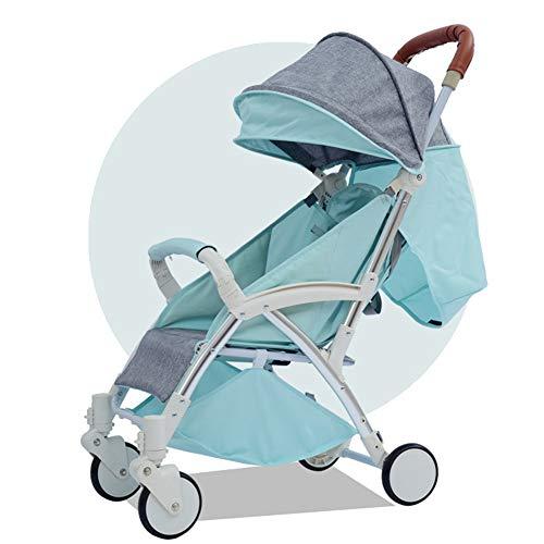 YANGSANJIN Leichte Sitzbuggys,Standardkinderwagen | buggys Kinderwagen bis 3 Jahre | Leichte Sitzbuggys | Kinderwagen, modernes Design mit Einkaufskorb, Blue