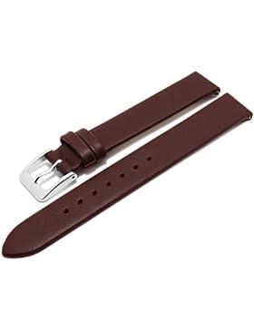 Meyhofer EASY-CLICK Uhrenarmband Donau 14mm bordeaux Leder glatt ohne Naht Made in Germany My2gfml4002