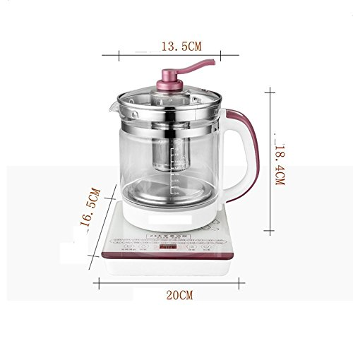GPC Electric Kettle High Borosilicate Glass Purple Double Anti-Hot 800W 1.8L High Capacity Separable Base Automatic Power off Insulation Home Travel Electric Kettles