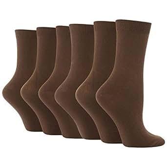 3 Pairs of Ladies Missi Cotton Ankle Socks L Brown 4-7 uk, 36-42 eur