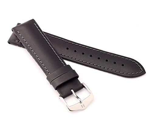 mance Uhrenarmband Modell James 20 mm Schwarz ()