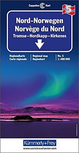 Carte routière : Norvège Nord