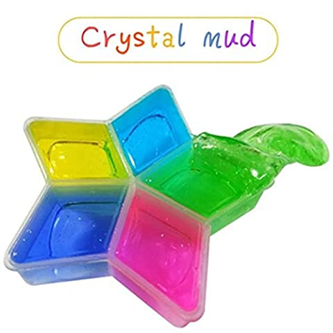 Crystal Mud , Xshuai®5 Pcs/lot Colorful Clay Slime DIY Non-toxic Crystal Mud Play Transparent Magic Plasticine Toys Gifts for Kids (No Borax)