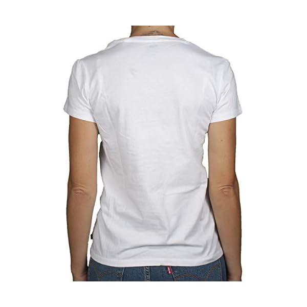 Levi's T-Shirt Purple Donna Bianco Stampa Tropical 743090058
