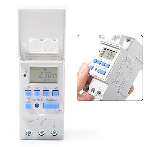 XCSOURCE THC15A Digital LCD Strom Programmierbar Zeit Schalter Elektronischer Timer 110V Für Lichter Elektrische Geräte TH280