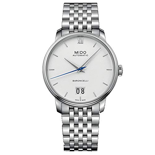 Mido Men's Baroncelli 40mm Steel Bracelet Automatic Watch M027.426.11.018.00