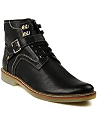 Bruno Manetti Men Black Faux Leather Casual Shoes - B01BF7SD78