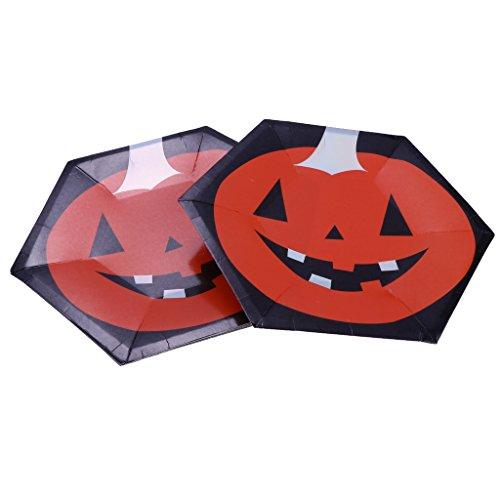pcs Halloween Pappteller Imbissteller Einwegteller Geburtstags Party Geschirr DIY Bastel - Kürbis, 10 Zoll (Cupcakes Halloween Kürbis Kind)