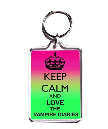 KEEP CALM AND LOVE THE VAMPIRE DIARIES KEYCHAIN SCHLÜSSELANHÄNGER