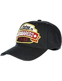 Dsquared2 chapeau homme réglable en coton Caten Twins noir 30495b73b02a