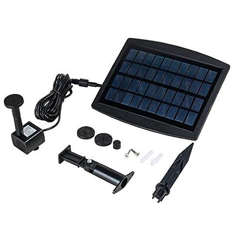 sourcingmap® Solar Power Panel Water Pump Aquarium Garden Pond Submersible Fountain Kit