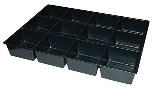 Kennedy Verarbeitung ABS TRENNWAND mit 10,2cm–12fach für 73,7cm Cab, schwarz, 4