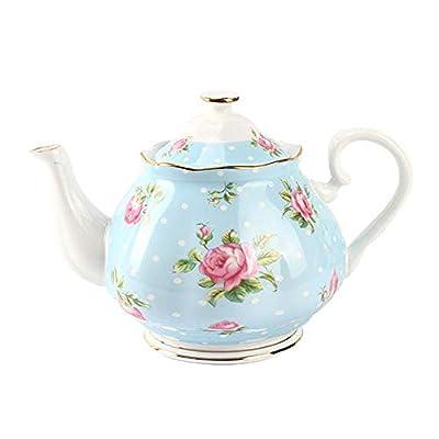 Style vintage Théière Royal Floral Pot 570ml Théière en céramique en porcelaine le meilleur pour les amateurs de thé