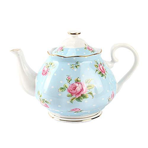 Tetera de estilo vintage Royal Floral 570 ml tetera de cerámica hecha de porcelana china mejor para los amantes del té