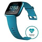Fitbit Versa Gesundheits- & Fitness Smartwatch mit Herzfrequenzmessung, 4+ Tage Akkulaufzeit & Wasserabweisend bis 50 m Tiefe -