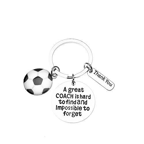 Sportybella Fußballtrainer-Schlüsselanhänger - Geschenk für Fußballtrainer - toller Coach is Hard to Find Schmuck Fußballtrainer -