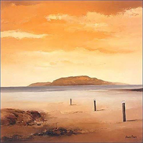 Keilrahmen-Bild - Hans Paus: Quiet Sands II 50 x 50 cm Leinwandbild -