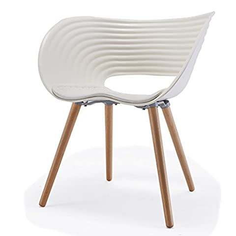 Chair Nordic Simple Dining Chair Fashion Leisure Handrail Chair Chair Creative Contact Desk And Chair ( Color : White )