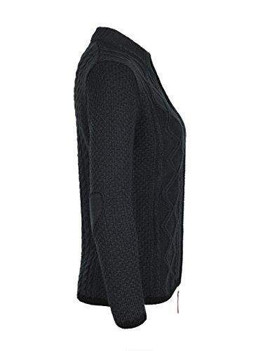 ALMBOCK Trachtenstrickjacke Damen |Trachtenweste Damen modern in anthrazit mit Reißverschluss | Trachten Jacke sportlich - Trachtenweste Gr. XXL - 2